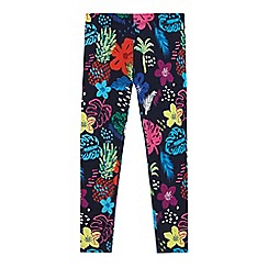 bluezoo - Girls' multi-coloured tropical print leggings
