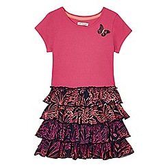 bluezoo - Girls' pink butterfly applique dress