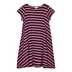bluezoo - Girls' pink and navy striped dress