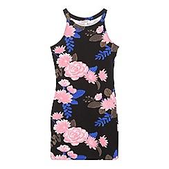 bluezoo - Girls' black floral print dress