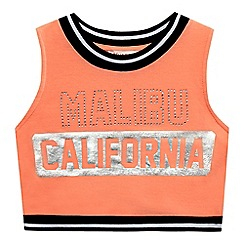 bluezoo - Girls' orange 'Malibu' crop top