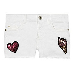 bluezoo - Girls' white badge shorts