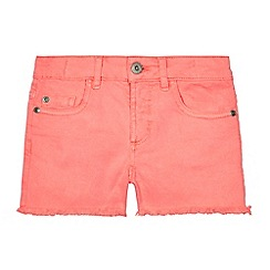bluezoo - Girls' coral denim shorts