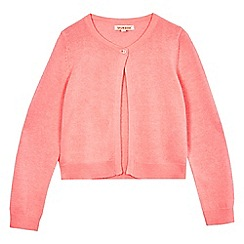 bluezoo - Girls' pink button cardigan