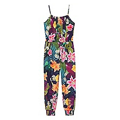 bluezoo - Girls' multi-coloured cactus print jumpsuit