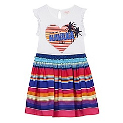 bluezoo - Girls' multi-coloured 'Havana' print striped skirt dress
