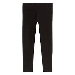 bluezoo - Girls' black ribbed leggings