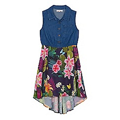 bluezoo - Girls denim cactus print dress