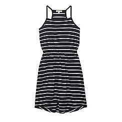 bluezoo - Girls' navy striped jersey dress