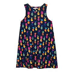 bluezoo - Girls' multi-coloured pineapple print dress