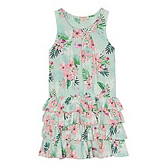bluezoo - Girls' multi-coloured flamingo print rara dress