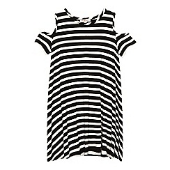 bluezoo - Girls' black and white striped dress