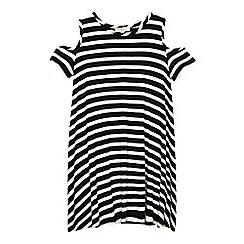 bluezoo - Girls' black and white striped dress