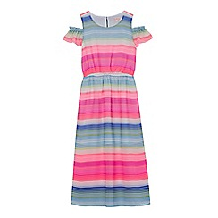 bluezoo - Girls' multi-coloured striped maxi dress