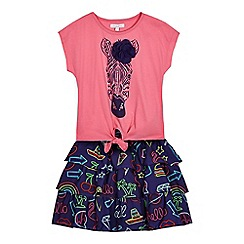 bluezoo - Girls' pink t-shirt and skirt set