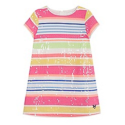 J by Jasper Conran - Girls' multi-coloured striped sequinned dress