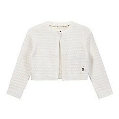J by Jasper Conran - Girls' cream tuck stitch cardigan