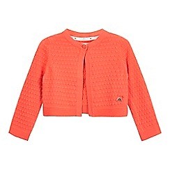 J by Jasper Conran - Girls' orange tuck stitch cardigan
