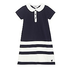 J by Jasper Conran - Girls' navy block striped dress