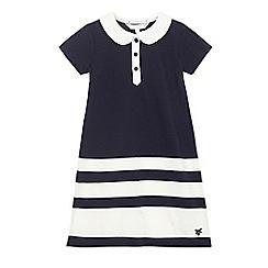 J by Jasper Conran - Girls' navy block striped dress