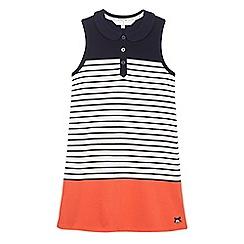 J by Jasper Conran - Girls' navy striped print pique dress