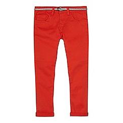 J by Jasper Conran - Girls' dark orange belted skinny jeans