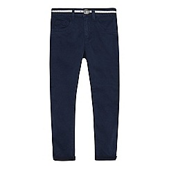 J by Jasper Conran - Girls' navy belted skinny jeans
