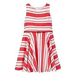 J by Jasper Conran - Girls' pink striped dress