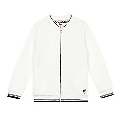 J by Jasper Conran - Girls' white textured jersey bomber jacket