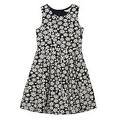 J by Jasper Conran - Girls' navy floral print dress
