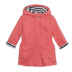 J by Jasper Conran - Girls' coral button-down fisherman coat