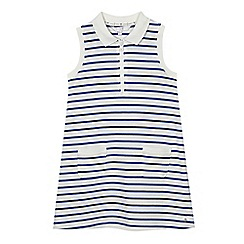 J by Jasper Conran - Girls' blue striped print dress