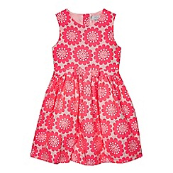 J by Jasper Conran - Girls' pink floral jacquard prom dress