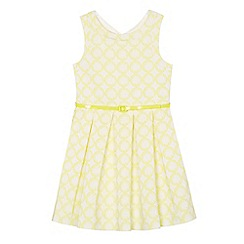 J by Jasper Conran - Girls' yellow textured patterned dress