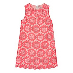 J by Jasper Conran - Girls' pink textured flower dress