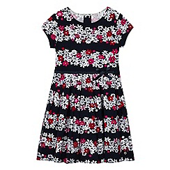 J by Jasper Conran - Girls' multi-coloured floral print dress