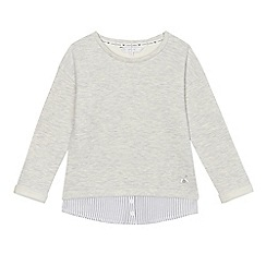 J by Jasper Conran - Girls' grey mock sweater