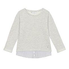 J by Jasper Conran - Girls' grey mock sweater