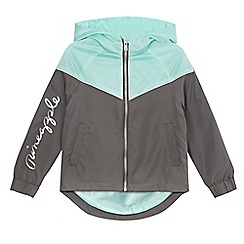 Pineapple - Girls' grey zip-through wind runner jacket