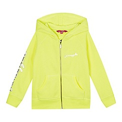 Pineapple - Girls' bright yellow zip through hoodie
