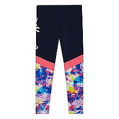 Pineapple - Girls' navy painterly leggings