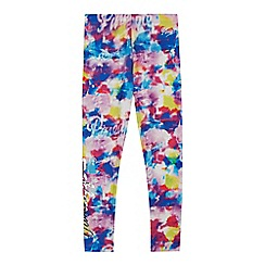 Pineapple - Girls' pink painterly leggings
