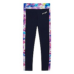 Pineapple - Girls' navy space dye print leggings