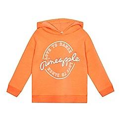 Pineapple - Girls' orange 'Love To Dance' oversized hoodie