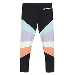 Pineapple - Girls' black colour block leggings