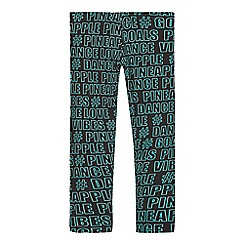 Pineapple - Girls' black slogan print leggings
