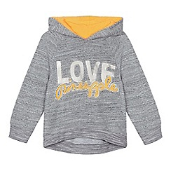 Pineapple - Girls' grey diamante detail hoodie