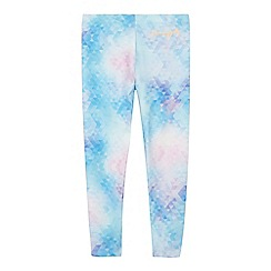 Pineapple - Girls' light blue geometric print leggings