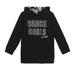 Pineapple - Girls' black diamante 'Dance Goals' hoodie