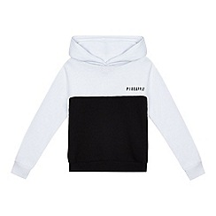 Pineapple - Girls' black and white hoodie